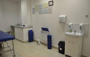 Zdjęcie wnętrza gabinetu masażu leczniczego
